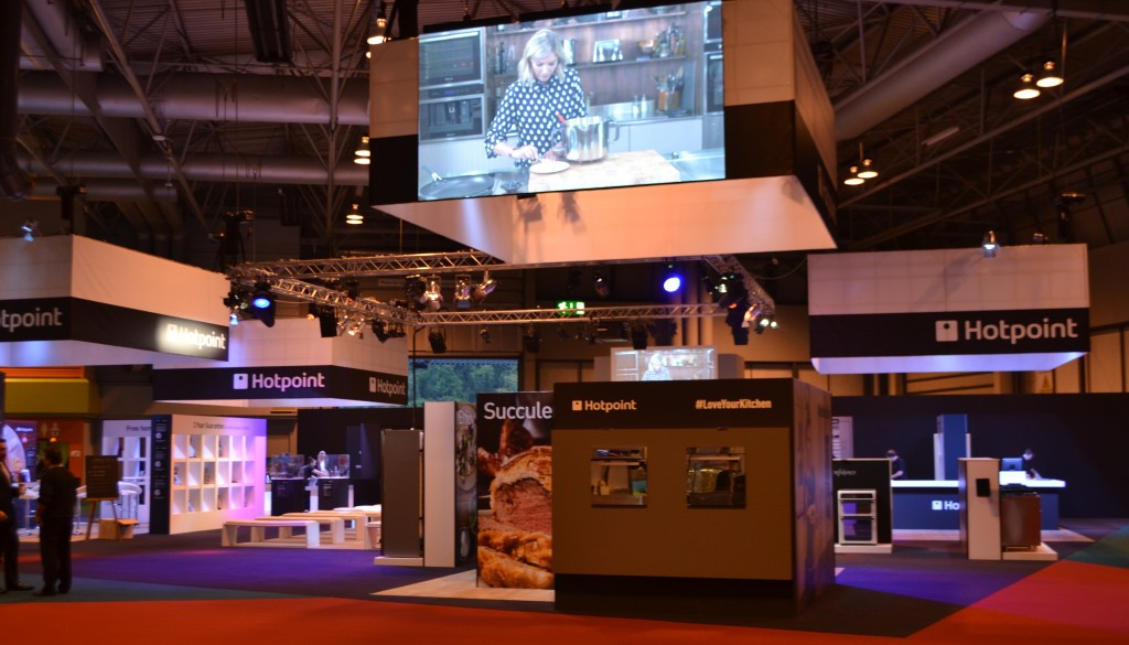 Hotpoint Exhibition Stand - Till Hire & PDQ Hire