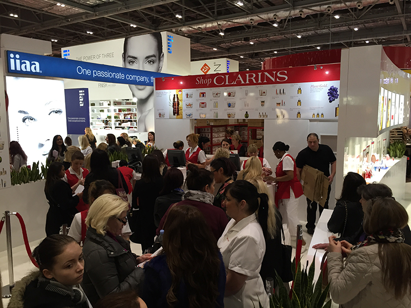 Clarins Stand EPOS System Hire
