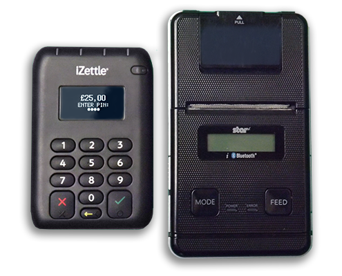 iZettle Black Reader with Printer